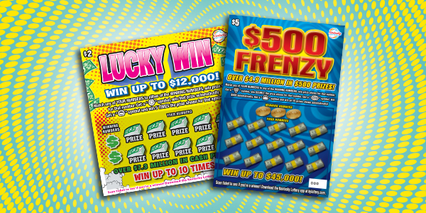 Play Lucky Win & $500 Frenzy Scratch-offs