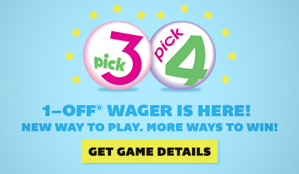 New Way to Play Pick 3 and Pick 4 - 1-OFF Wager® is Here!