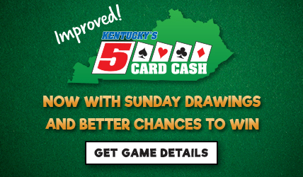 Improved 5 Card Cash - Now with Sunday Drawings and Better Chances to Win