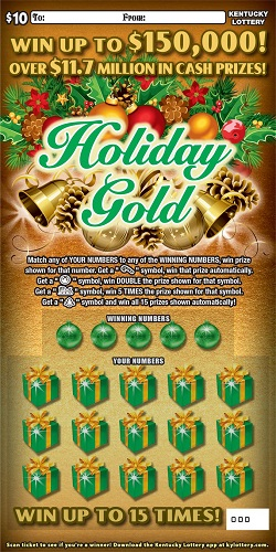 Holiday Gold $150,000 - 700 | KY Lottery
